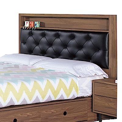 品家居 亞爾維3.5尺皮革單人床頭片-106x9x114cm免組