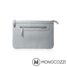 MONOCOZZI Posh Macbook Air 11 吋皮革保護內袋 - 淡灰藍