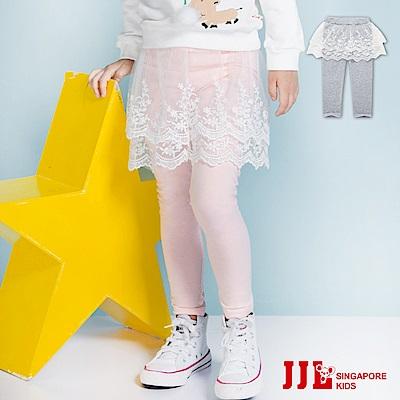 JJLKIDS 小花刺繡網紗層內搭褲裙(2色)