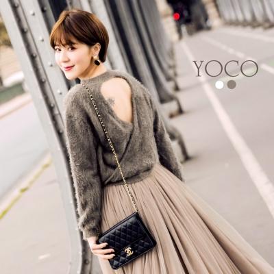 東京著衣-yoco 安琪聯名法式甜美小心機露背毛衣-XS.S.M.L(共四色)