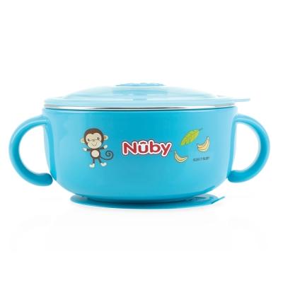 Nuby 不鏽鋼保溫保冷碗-藍(6M+)