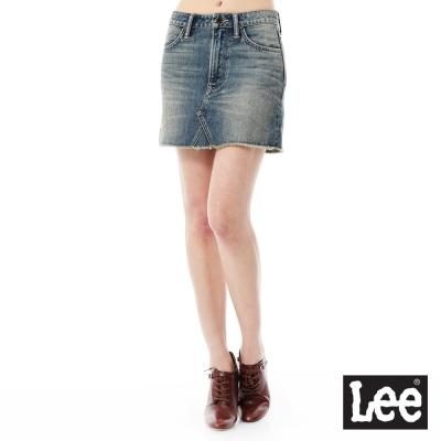 Lee 牛仔短裙/101+系列-女款-中藍