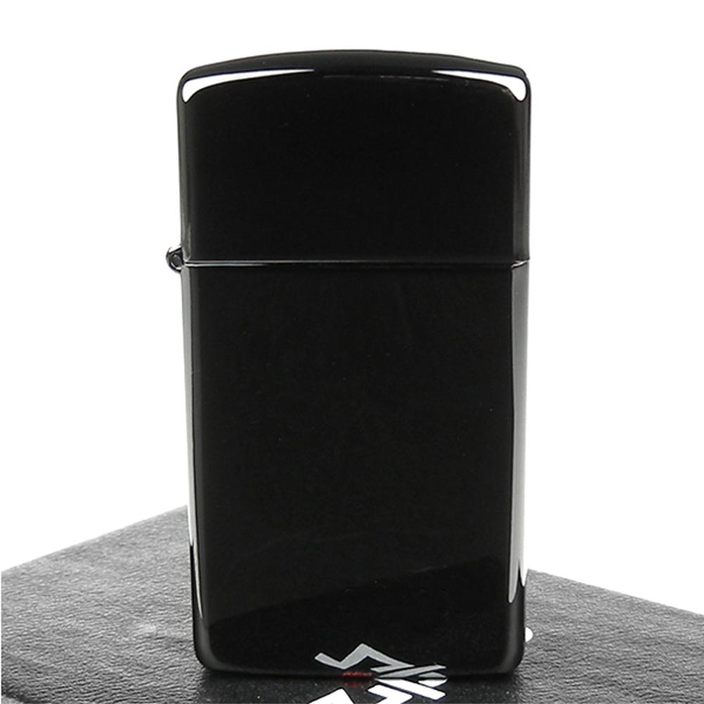 ZIPPO 美系Ebony-防刮塗料烏黑鏡面打火機(窄版)