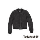 Timberland 女款黑色Belknap皮革飛行夾克