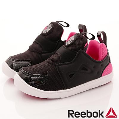 Reebok頂級童鞋 休閒學步鞋 SI472 黑桃 (寶寶段)T#14cm
