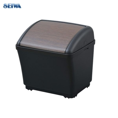 SEIWA-防傾方型垃圾桶-木紋-G105