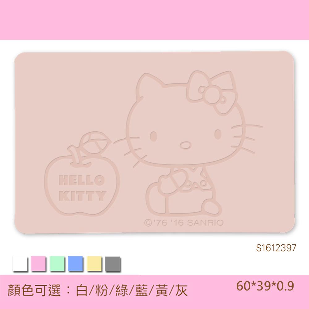 Hello Kitty珪藻土吸水地墊 -雕刻/ 愛的蘋果