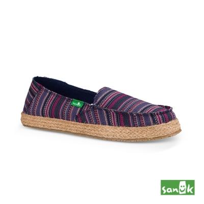 SANUK 針織草編底休閒鞋--女款(紫色)