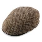 RALPH LAUREN POLO 人字織紋拼色混羊毛扁帽-咖啡色