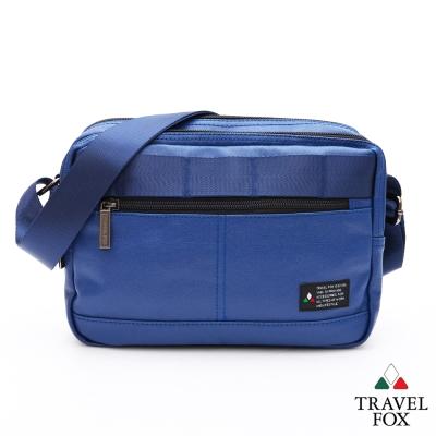 Travel Fox旅狐包 輕巧商務雙料防潑水帆布側背包 - 藍