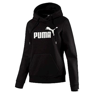 PUMA-女性基本系列No.1 Logo長厚連帽T恤-黑色-亞規