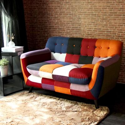 H&D Abel混色拼布設計款獨立筒雙人沙發