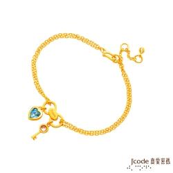 J'code真愛密碼 愛情拿鐵黃金/水晶手鍊