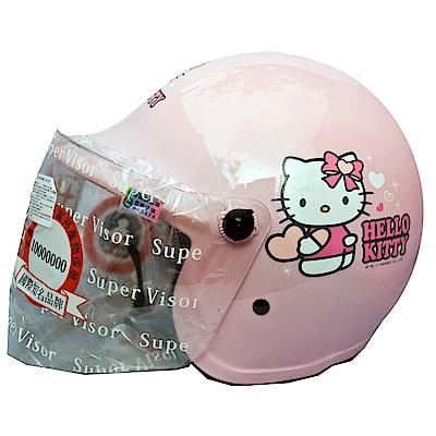 Hello Kitty凱蒂貓 粉色兒童半罩安全帽(中童)