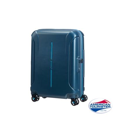 AT美國旅行者 20吋Technum防刮飛機輪TSA海關鎖行李箱(藍)