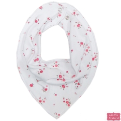 LILY & JACK 英國 白底紅色小碎花款三角領巾圍兜口水巾