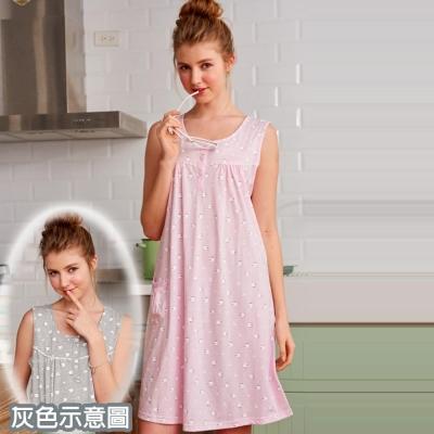 睡衣 精梳棉柔短袖連身睡衣( 65025 )綿羊牧場 灰色-台灣製造 蕾妮塔塔