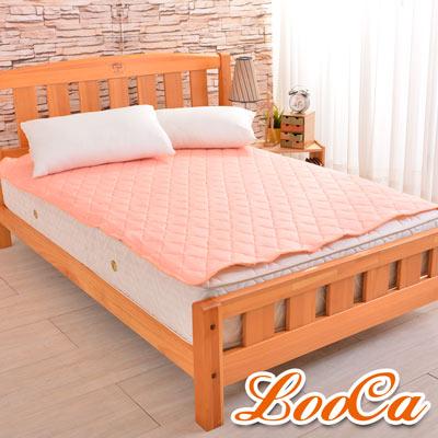 LooCa 新一代酷冰涼保潔墊單人3.5尺(橘)