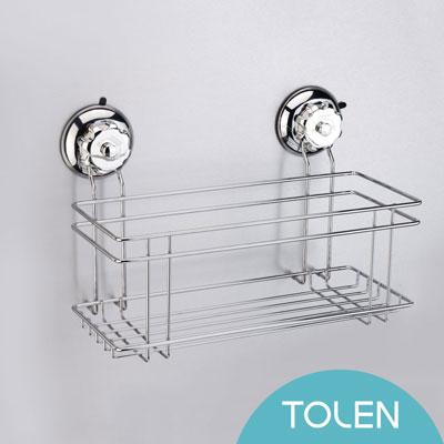 Tolen陶然居-強力無痕吸盤掛勾-Vixo威扣-不鏽鋼高瓶架