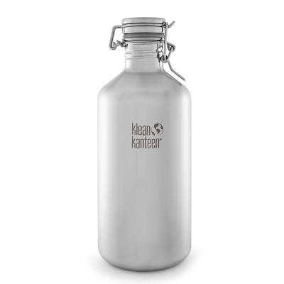 美國Klean Kanteen快扣不鏽鋼瓶1900ml-原鋼色