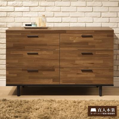日本直人木業傢俱-工業生活120CM六斗櫃-(120x45x76cm)免組