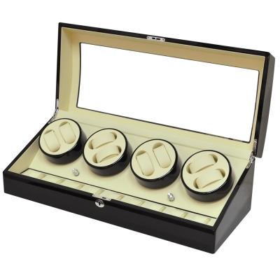 WISH 機械腕錶自動上鍊盒‧ 17 只裝 - 黑色白內裡鋼琴烤漆