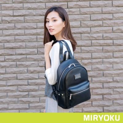 MIRYOKU 質感斜紋系列 / 簡約搖滾鉚釘後背包(共4色)