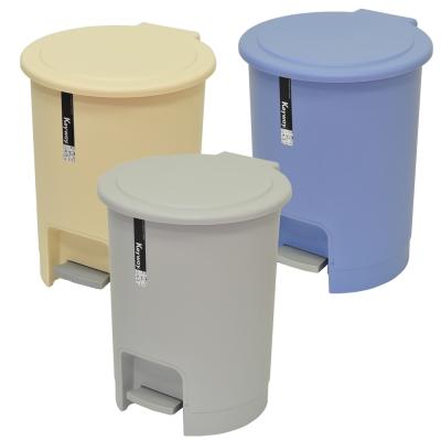 【創意達人】京都腳踏式垃圾桶15L(2入)