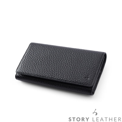 STORYLEATHER i 7  / i 8   4 . 7 吋 橫式腰掛 荔枝紋黑 現貨皮套
