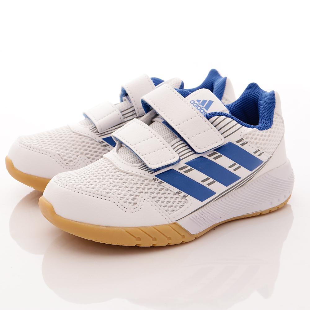 adidas童鞋-透氣運動鞋款-NI419藍白(小童段)HN