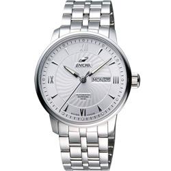 ENICAR 英納格 光輝時刻經典機械腕錶-銀/41mm