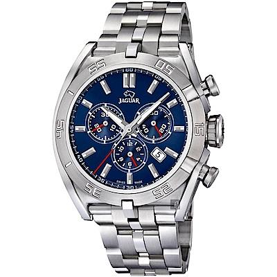 JAGUAR積架 EXECUTIVE 計時手錶-藍x銀/45.8mm