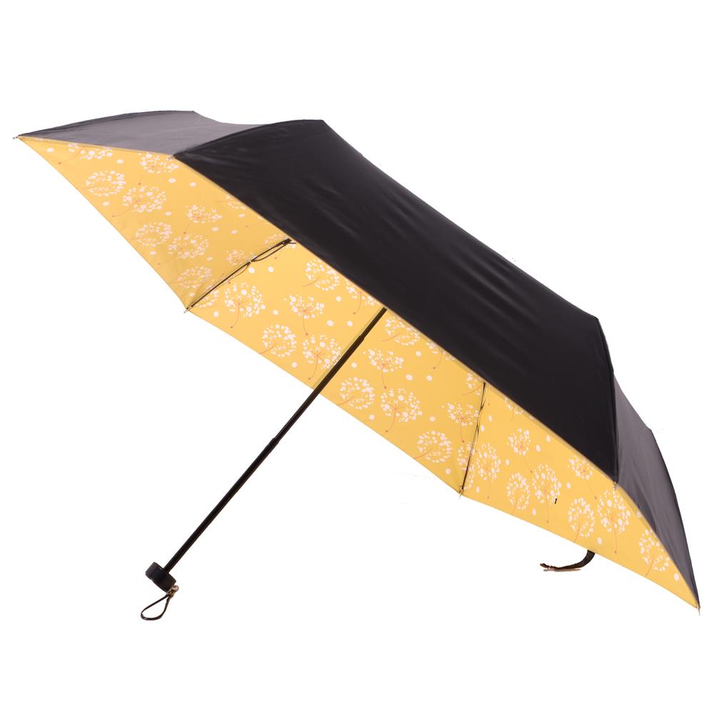 2mm 100%遮光 蒲公英黑膠輕量手開傘 (粉黃)