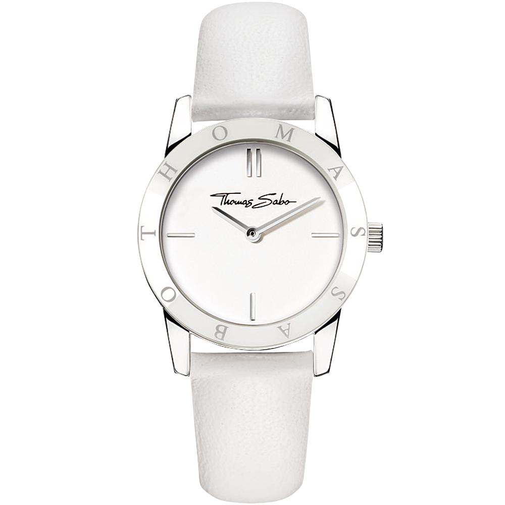 Thomas Sabo Classic 時尚德式腕錶-白/30mm