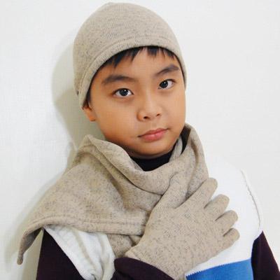 【CoFeel酷咖絨】咖啡混紡兒童帥氣保暖帽-咖啡色