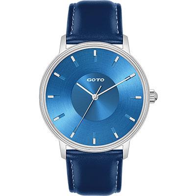 GOTO THINK簡約時尚手錶-藍/42mm