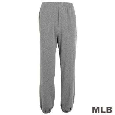 MLB-紐約洋基隊縮口印花厚長褲-深麻灰(男)
