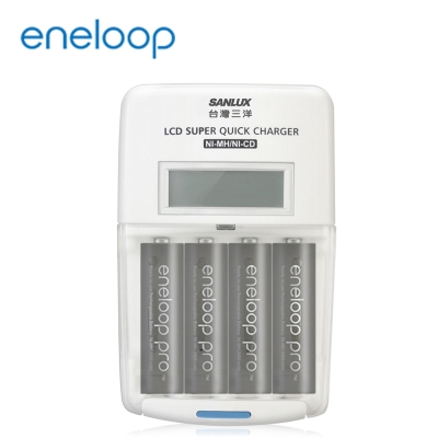 國際牌eneloop高容量充電電池組(旗艦型充電器+3號4入)
