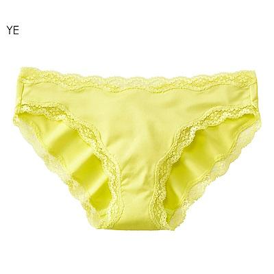 aimerfeel 淑女素面蕾絲無痕內褲-黃色