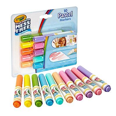 美國 Crayola繪兒樂 神彩色筆馬卡龍色10色(3Y+)