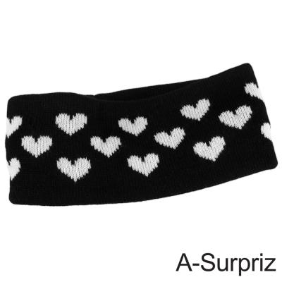 A-Surpriz 愛戀甜心彈性針織髮帶(黑色系)