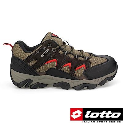 LOTTO 義大利 男 低筒戶外登山鞋 (棕)