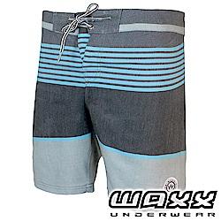 WAXX 經典系列-進化特區藍灰拼接快乾男衝浪褲(18英吋)