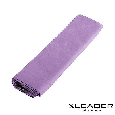 Leader X 超細纖維 吸水速乾運動毛巾  粉紫 -快