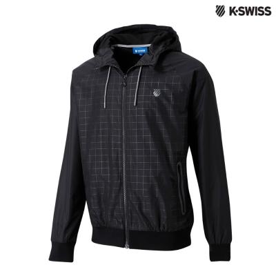 K-Swiss Check Windbreaker風衣外套-男-黑