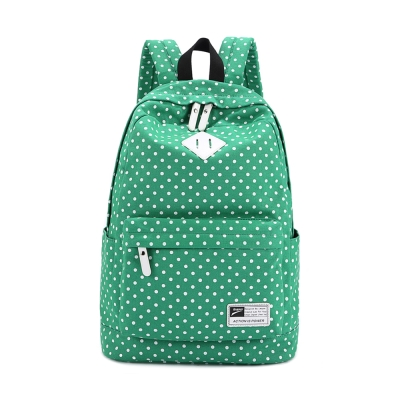 leaper雙肩點點帆布後背包 綠色
