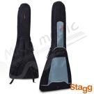 Stagg 比利時 特殊V型 電吉他 多收納式雙肩舒壓  琴袋 (10FV)