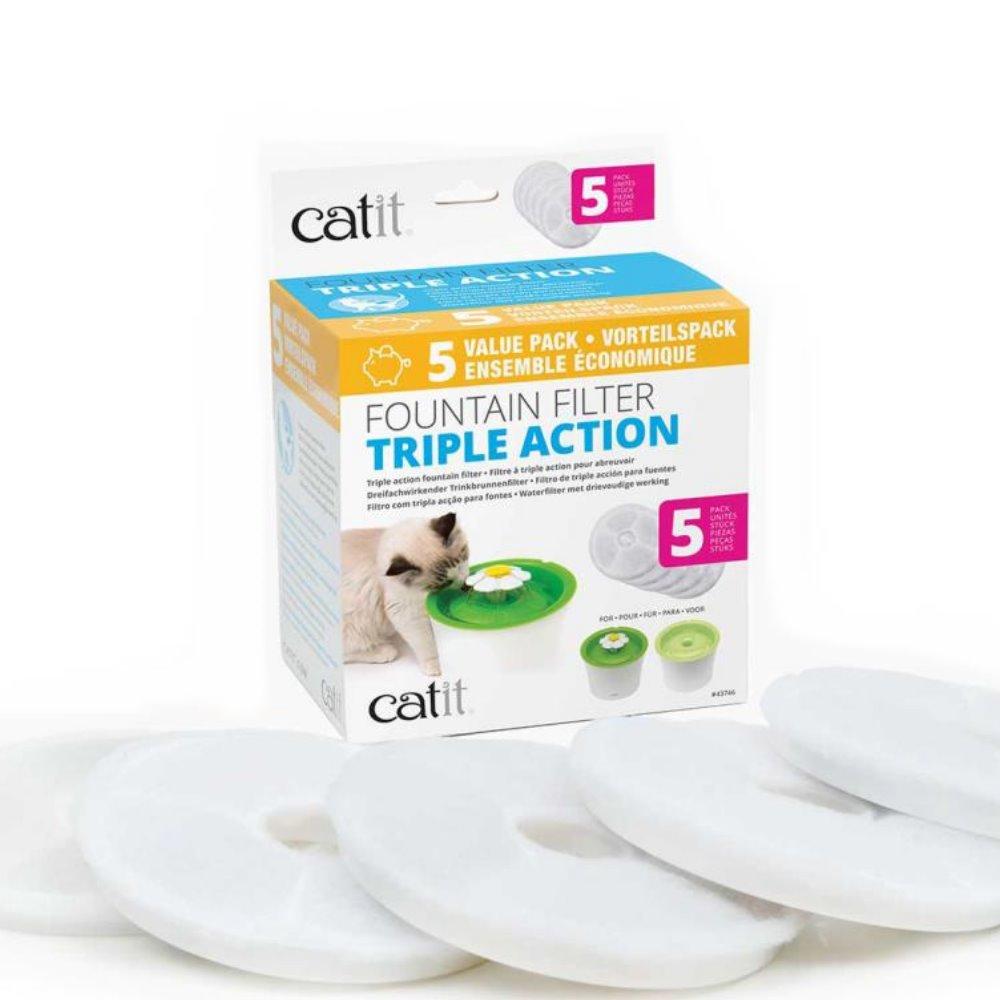 喵星樂活 Catit2.0 飲水器濾心 活性碳+軟水劑 5入/盒