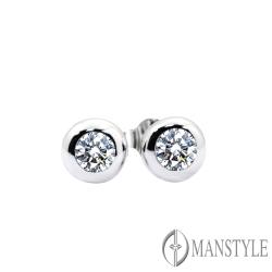MANSTYLE 圓夢 0.40ct 南非天然鑽石耳環