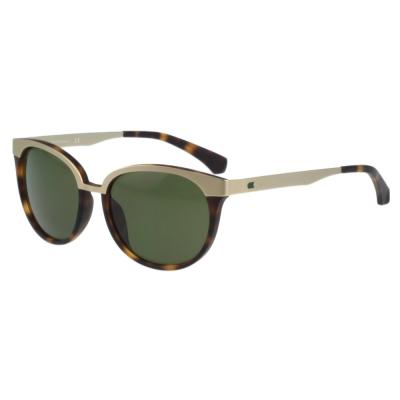Calvin Klein- 復古雙色太陽眼鏡(金+琥珀色)